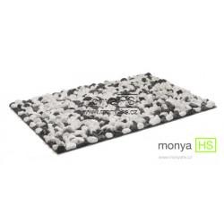 StoneBoard - Mramor (bílo-černá) 40x60 cm (40 - 60 mm)